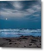 Moon Over The Gulf Metal Print by Tammy Smith