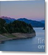 Moon Over The Palisades Metal Print