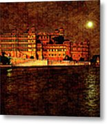 Moon Over Udaipur Painted Version Metal Print