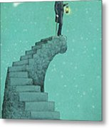 Moon Steps Metal Print