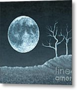 Moon Worship Metal Print