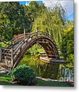 Moonbridge - The Beautifully Renovated Japanese Gardens At The Huntington Library. Metal Print