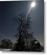 Moonlight And The Snow Metal Print
