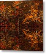 Moonlight Autumn Metal Print