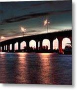 Moonlight Bridge Metal Print