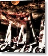 Moonlight Cruise Metal Print