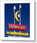 Moonlight Drive In Metal Print