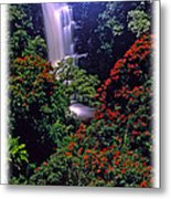 Moonlight Falls Metal Print