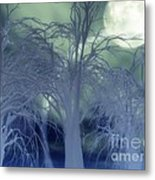 Moonlight Forest Metal Print