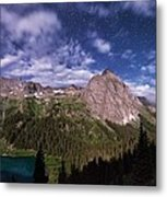 Moonlight Hiking On The Blue Lakes Trail Metal Print