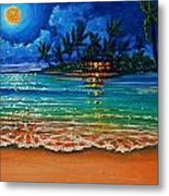 Moonlight Lagoon Metal Print