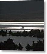 Moonlight On Mono Lake Metal Print