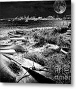 Moonlight On The Bay Metal Print