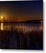 Moonlight On The Lake Metal Print