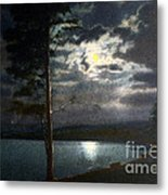 Moonlight On Yellowstone Lake Metal Print