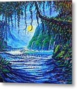 Moonlight Path To Paradise Metal Print