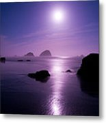 Moonlight Reflection Metal Print