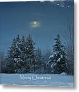 Moonlight Snow Metal Print