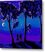 Moonlight Walk Metal Print
