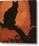 Moonlighting Cat Metal Print