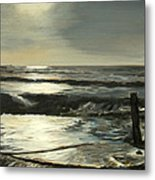 Moonlit Atlantic Metal Print