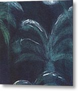 Moonlit Palms Metal Print