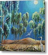 Moonlit Perch Metal Print
