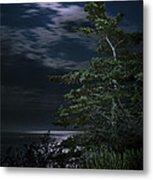 Moonlit Treescape Metal Print