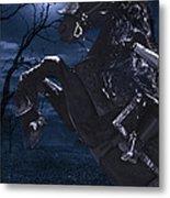 Moonlit Warrior Metal Print