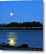 Moonrise Acadia National Park Metal Print