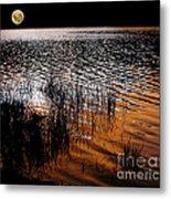 Moonrise After Sunset Metal Print by Kaye Menner