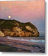 Moonrise At Avila Beach Metal Print