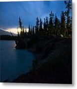 Moonrise At Wabasso Campground Metal Print