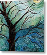 Moonrise In The Wild Night Metal Print
