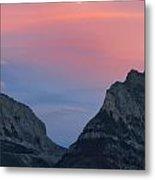 Moonrise Mountains Metal Print