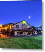 Moonrise On Golfcourse In Salem Ohio Metal Print