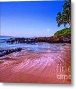 Moonrise Over Maui Metal Print