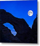 Moonrise Over North Window Arch Metal Print