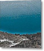 Moonrise Over The Mountain Metal Print