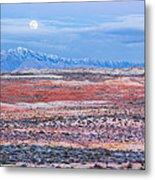 Moonrise Over Virgin Peak Metal Print