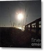 Moonrise With Boardwalk 2 Metal Print