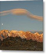 Moonset Over Mt Whitney Img 0637 Metal Print