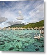 Moorea Lagoon Resort Metal Print