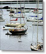 Moored At Kittery Point Maine Metal Print