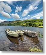 Moored Boats  Metal Print by Adrian Evans
