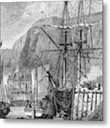 Moored Ships At Fort Regent,  St Metal Print