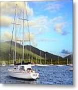 Moored To Relax Metal Print