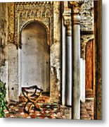 Moorish Chair And Alcove At The Alhambra Metal Print