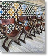 Moorish Tile Work At The Alhambra Metal Print