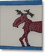 Moose Coming Home For Christmas Metal Print